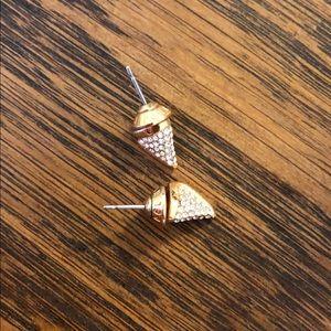 Henri Bendel shark tooth stud earrings